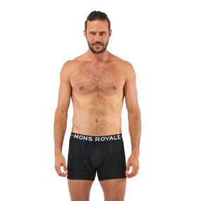 Mons Royale Mens Hold em Shorty Boxer black