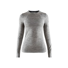 Craft Fuseknit Comfort Roundneck LS Women dark grey melange