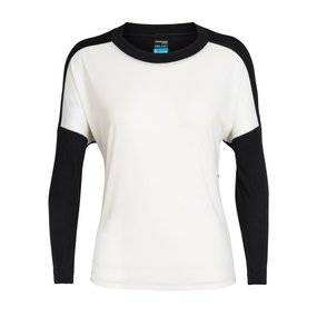 Icebreaker Kinetica Long Sleeve Crewe Women Snow/Black