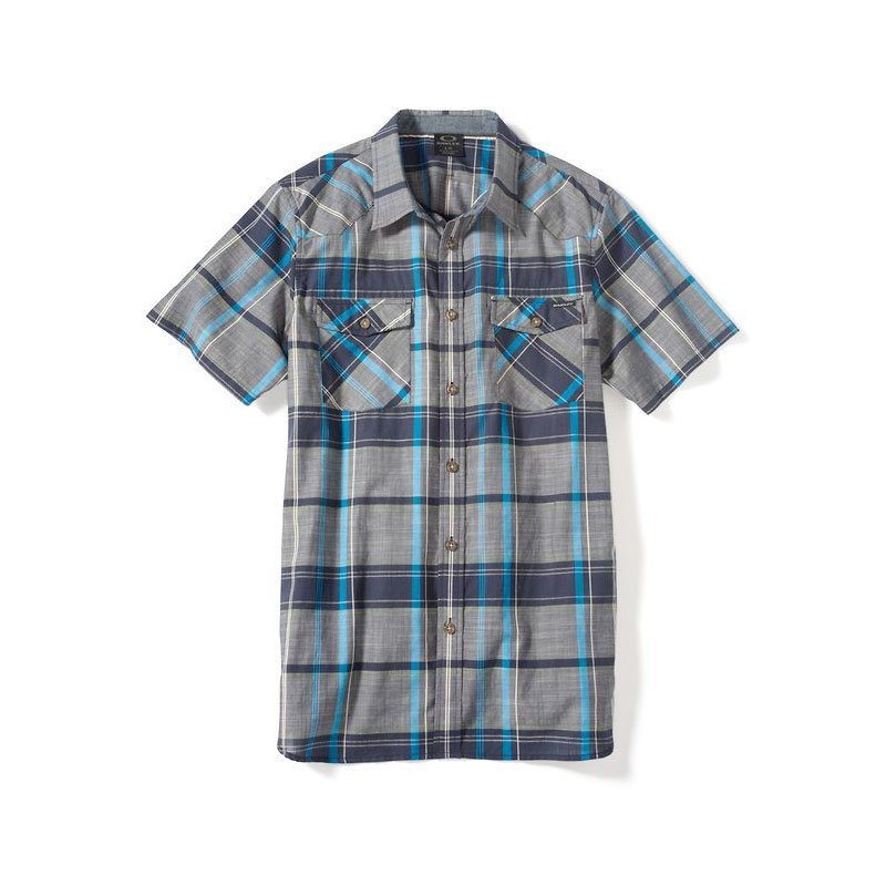 Oakley Short Sleeve On The Trail Woven navy blue, Gr. M