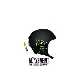 Movement Big a Ski & Snowboard Helm black/green, XS/S