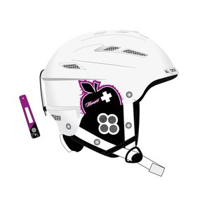 Movement Big a Women Ski & Snowboard Helm white/purple, M/L